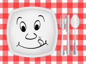 Dinner setting — Stock Vector