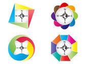 Compass button — Stock Vector