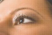 Beautiful woman eye — Stock Vector