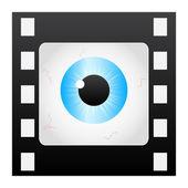 Filmstripe eye — Stock Vector