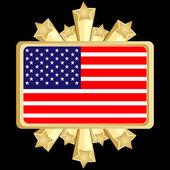 Bandiera americana — Vettoriale Stock