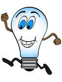 Happy lightbulb — Stock Vector