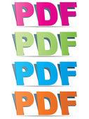 Pdf format — Stock Vector