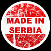 Made in serbia — Stock Vector