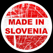 Made in slovenia — Stock Vector