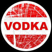 Vodka stamp — Stock Vector