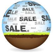 Sale ball — Stock Vector