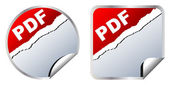 Pdf stickers — Stock Vector