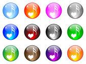 Şarkı aşk düğmesinin — Stok Vektör