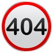 404 error sign - Vettoriali Stock