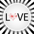 Stock Vector: Love design