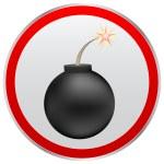Black bomb — Stock Vector