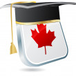 Canadian graduation — Stock Vector