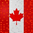 Stock Vector: Flag of canada