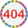 404 error button — Stock Vector