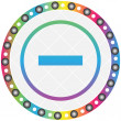 Royalty-Free Stock Imagen vectorial: Minus button