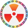 Radiation icon - Stock Vector