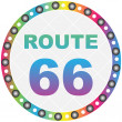 Route 66 button - Image vectorielle