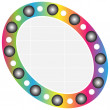colorful button — Stock Vector