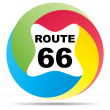 Stock Vector: Route 66 button