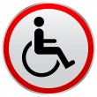Stock Vector: Disabled person sign