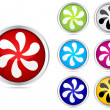 Fan buttons — Stock Vector