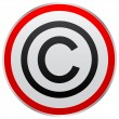 Copyright button - Stockvectorbeeld