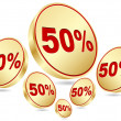 Fifty percent discount - Stockvectorbeeld