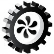Fan button - Imagen vectorial