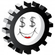 Royalty-Free Stock Vector Image: Cartoon face dollar
