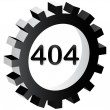 404 error sign — Stock Vector