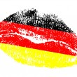 German kiss — Stock Vector