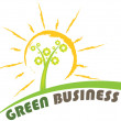 Green business banner — Stock Vector #7923796