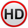 Hd button — Stock Vector