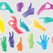 Vecteur: Hands shape