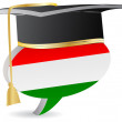 Hungarian graduation — Stock Vector