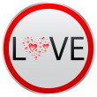 Stock Vector: Love button
