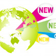 New world - Stock Vector