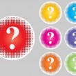 Question buttons different colors — Stock Vector #7924217