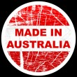Made in australia - Stock Vector