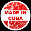 Stock Vector: Made in cuba
