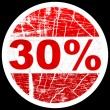 Thirty percent discount — Stock Vector