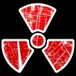 Radiation icon - Stok Vektr