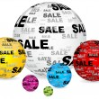 Stock Vector: Sale balls background