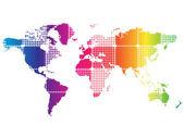 Mapa do mundo abstrato — Vetor de Stock
