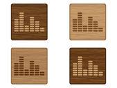 Musical button — Stock Vector