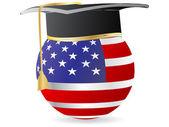 American graduation — Stock Vector