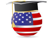 American graduation — Stock Vector