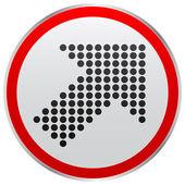 кнопка со стрелкой точек — Cтоковый вектор