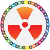 Radiation icon — Stock Vector